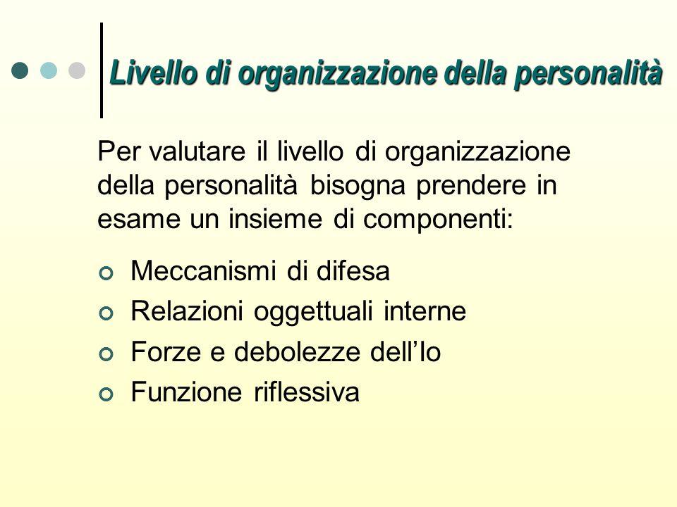 Livello di organizzazione della personalità