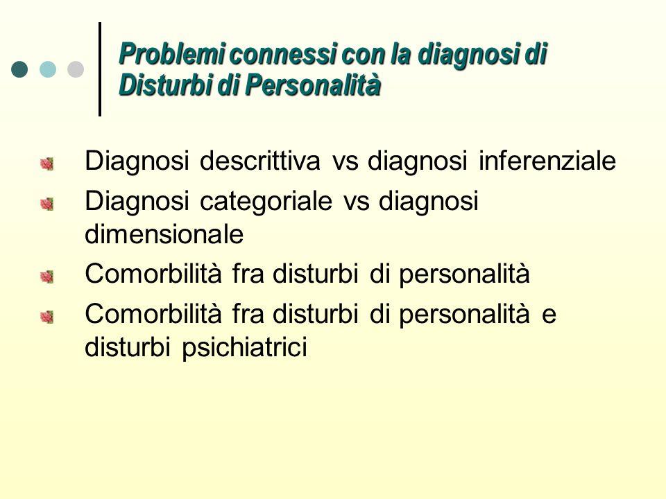 Problemi connessi con la diagnosi di Disturbi di Personalità