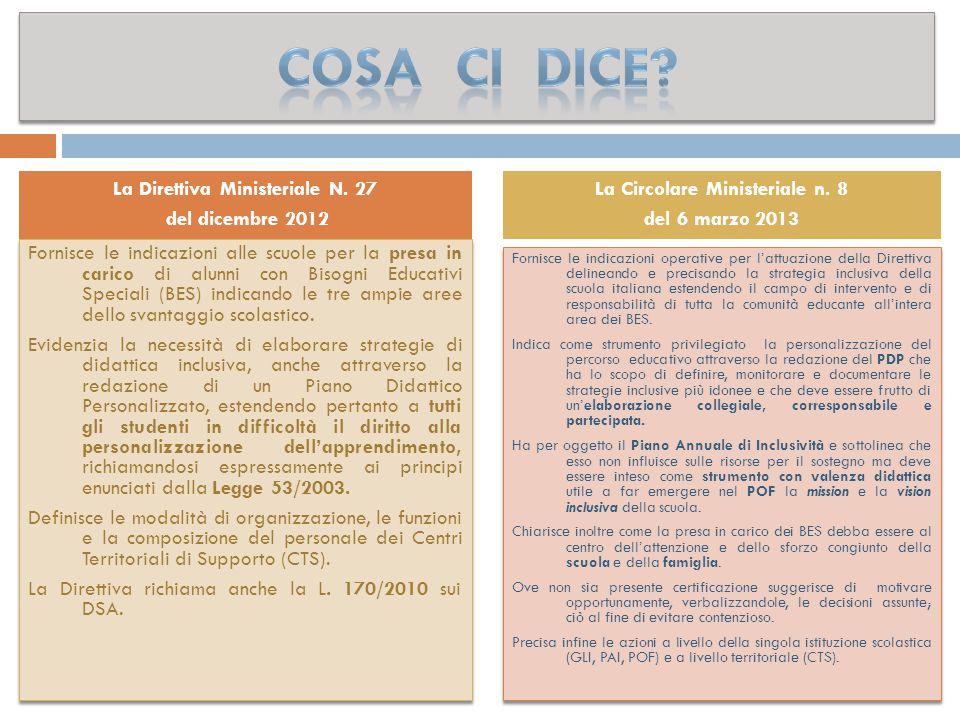 La Direttiva Ministeriale N. 27 La Circolare Ministeriale n. 8