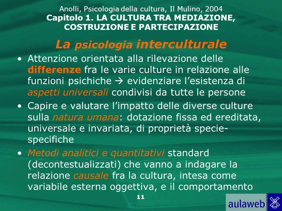 La psicologia interculturale