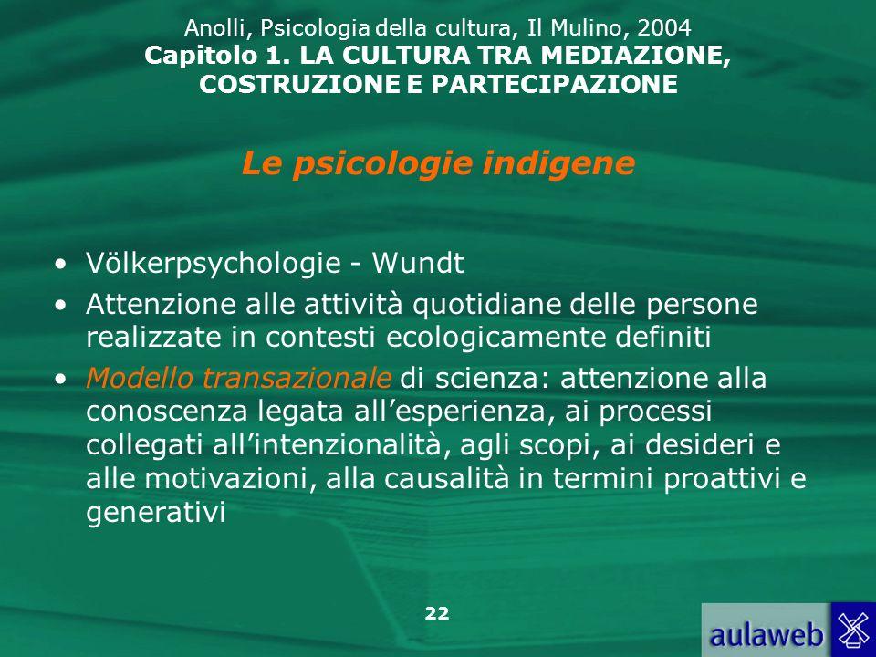 Le psicologie indigene