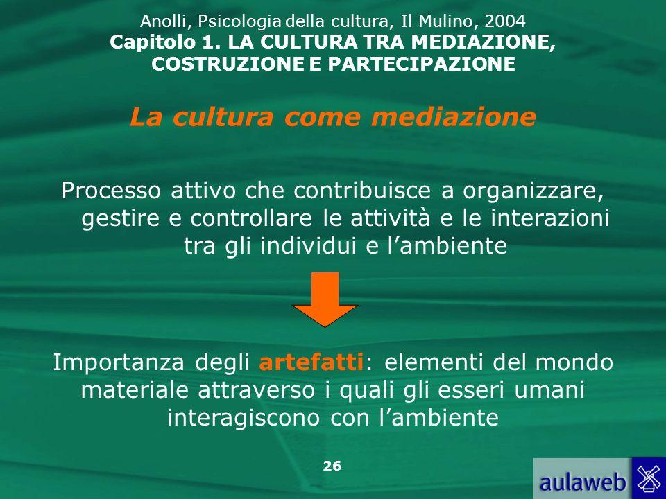 La cultura come mediazione