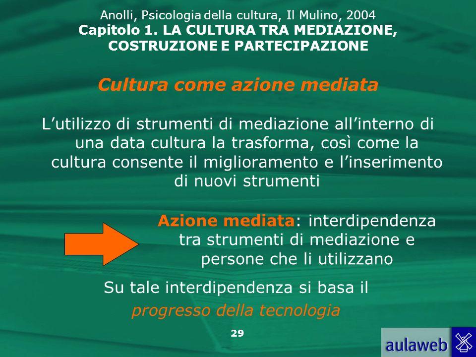 Cultura come azione mediata