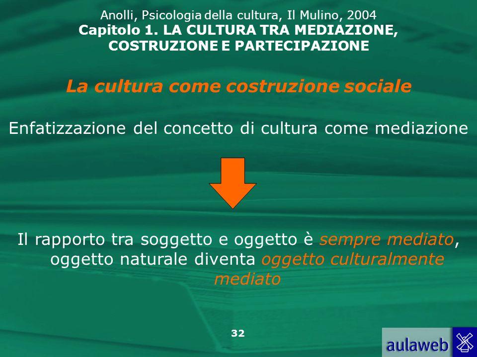 La cultura come costruzione sociale