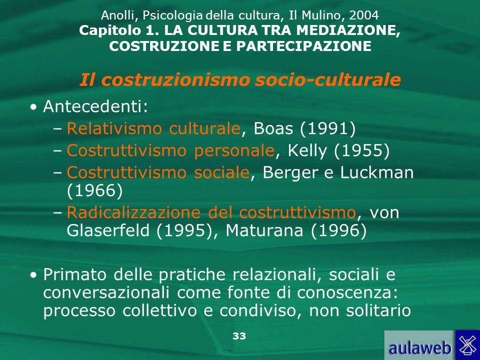 Il costruzionismo socio-culturale