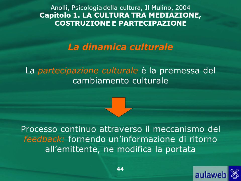 La partecipazione culturale è la premessa del cambiamento culturale
