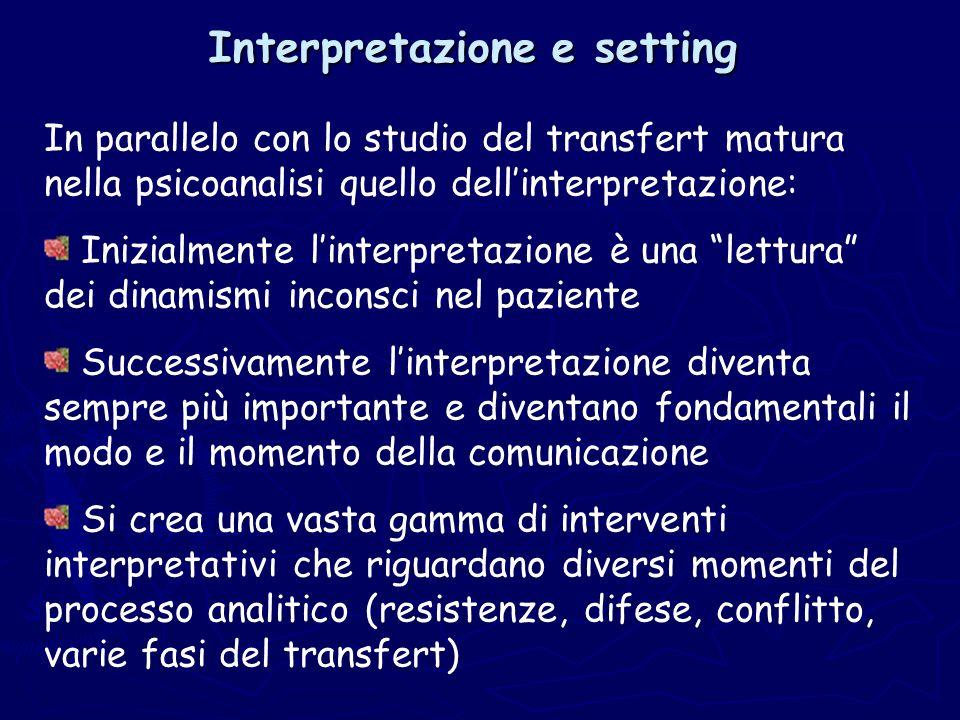 Interpretazione e setting