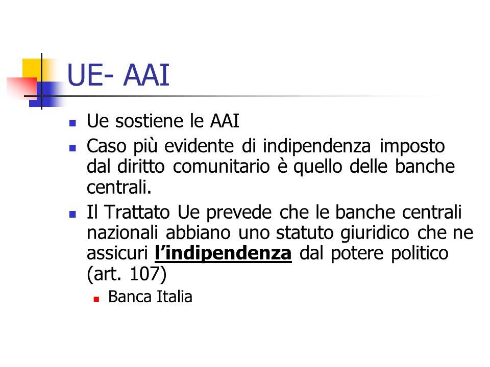 UE- AAI Ue sostiene le AAI