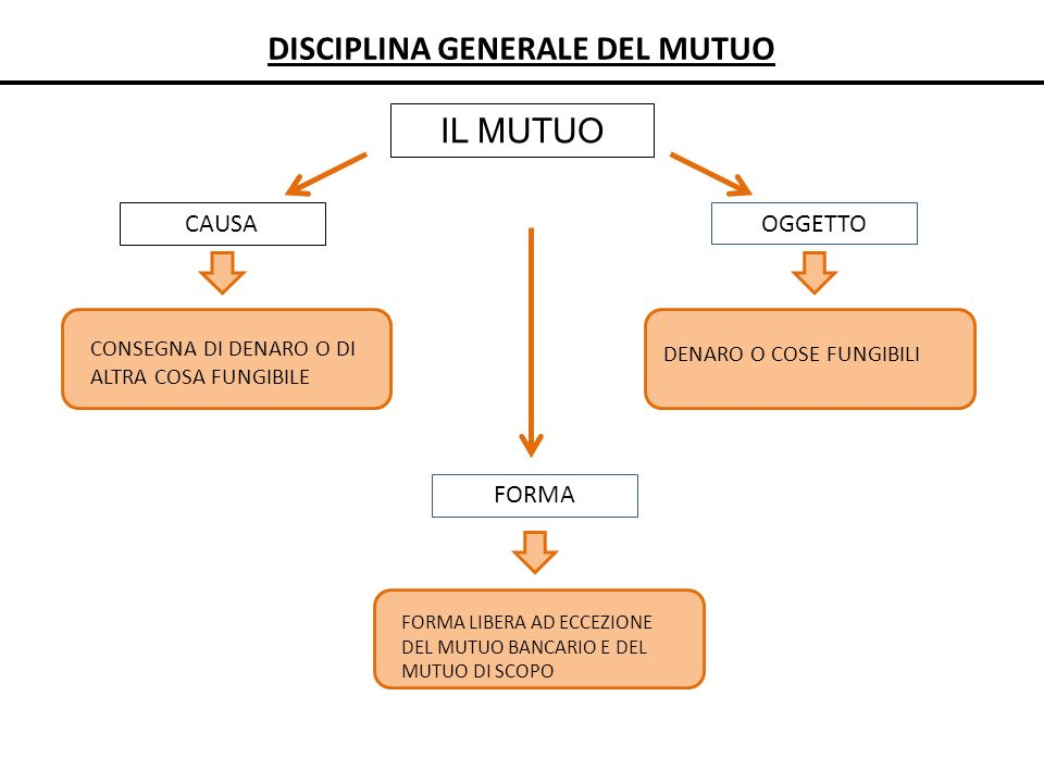 DISCIPLINA GENERALE DEL MUTUO