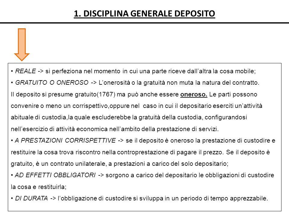 1. DISCIPLINA GENERALE DEPOSITO