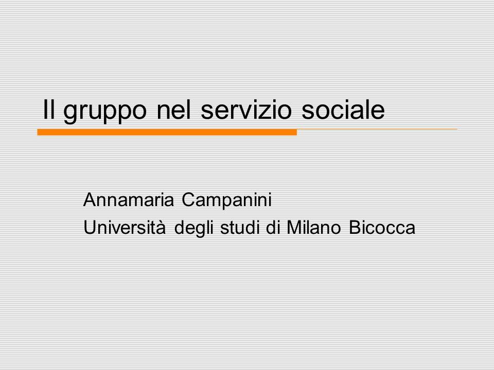 lez lavoro sociale con i gruppi 2012