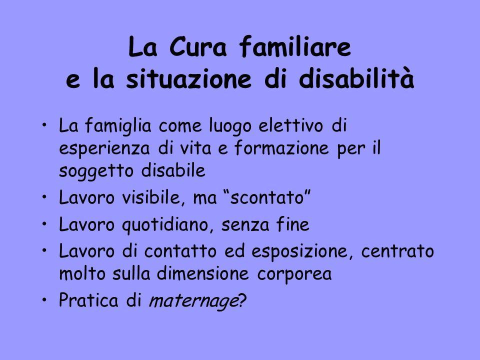 La Cura familiare e la situazione di disabilità
