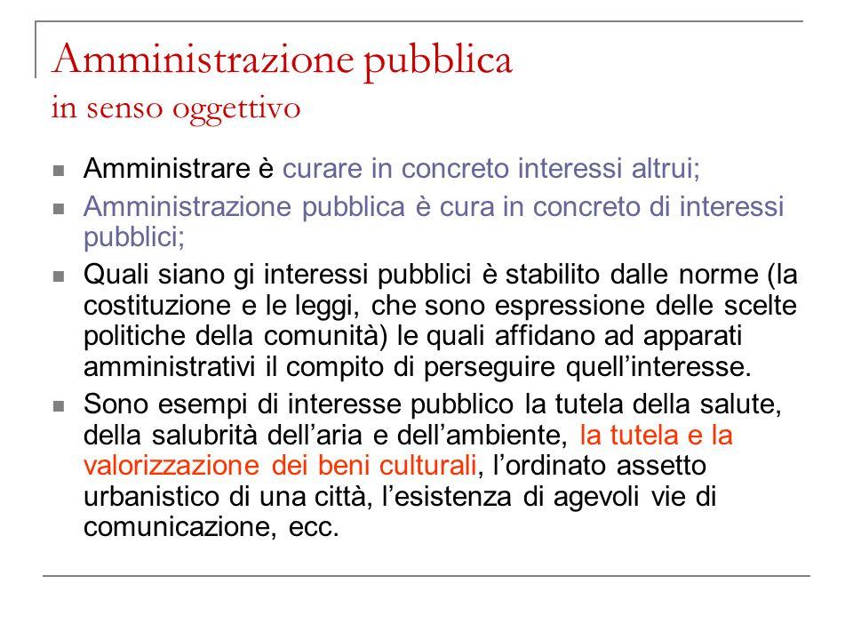 Amministrazione pubblica in senso oggettivo
