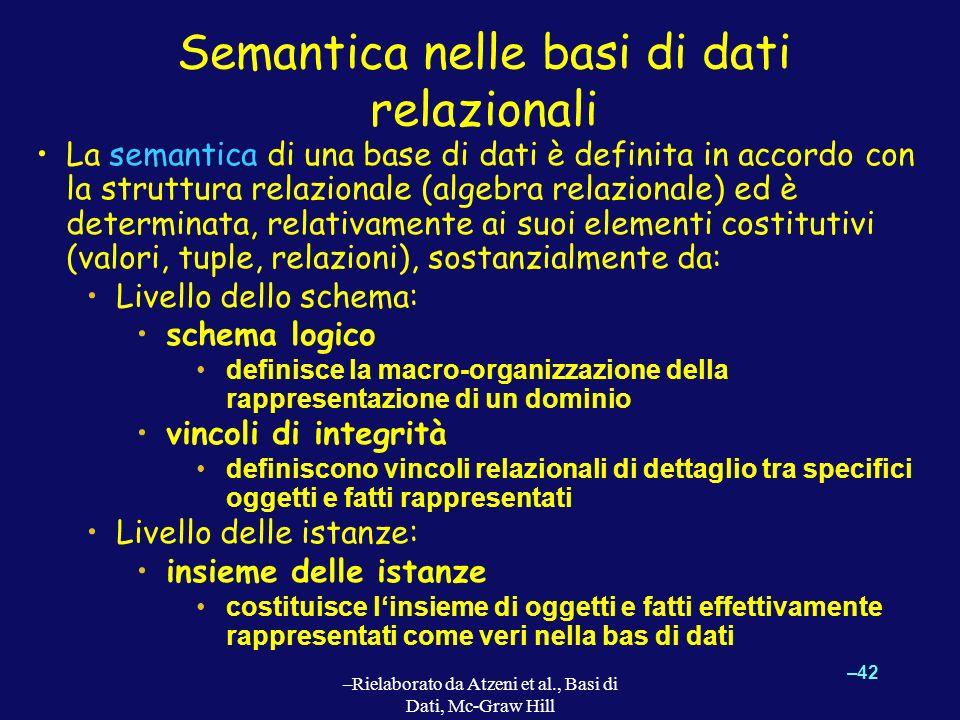 Semantica nelle basi di dati relazionali