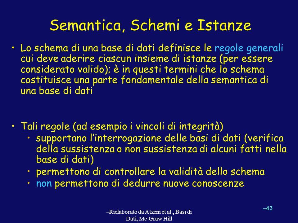 Semantica, Schemi e Istanze