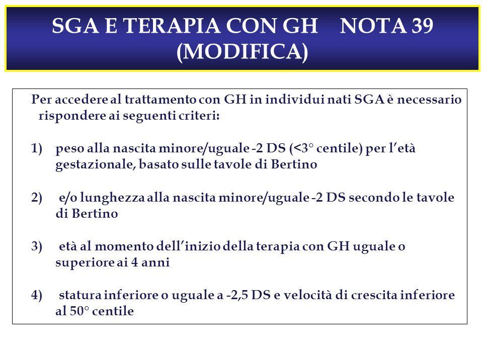 SGA E TERAPIA CON GH NOTA 39 (MODIFICA)