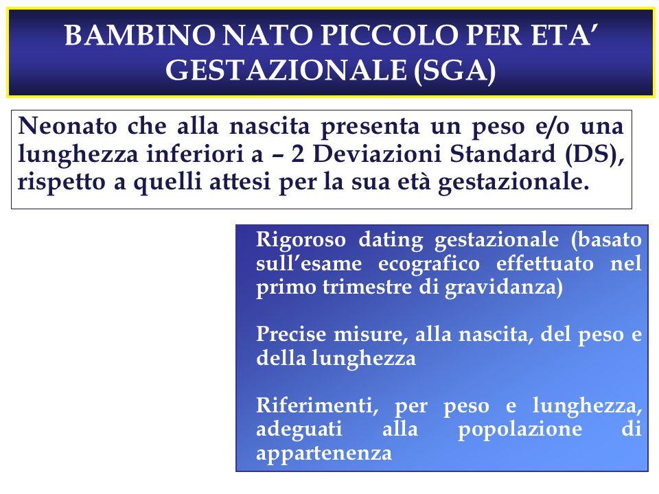 BAMBINO NATO PICCOLO PER ETA' GESTAZIONALE (SGA)