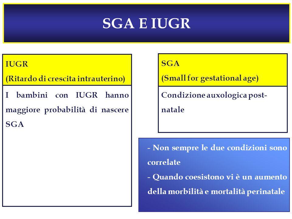 SGA E IUGR IUGR (Ritardo di crescita intrauterino) SGA