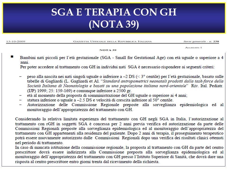 SGA E TERAPIA CON GH (NOTA 39)