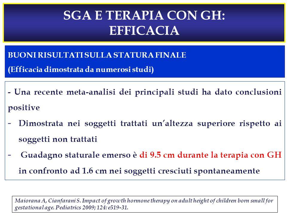 SGA E TERAPIA CON GH: EFFICACIA