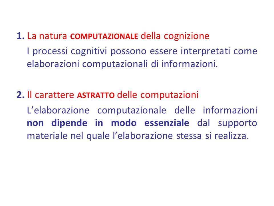 1. La natura computazionale della cognizione