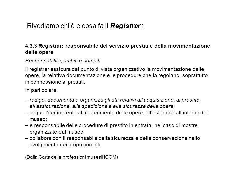 Rivediamo chi è e cosa fa il Registrar :