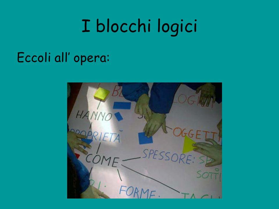 I blocchi logici Eccoli all' opera: