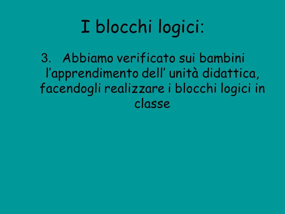 I blocchi logici: 3.