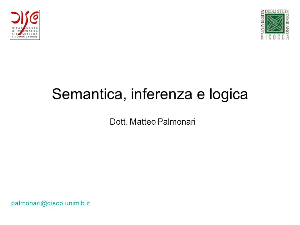 Semantica, inferenza e logica