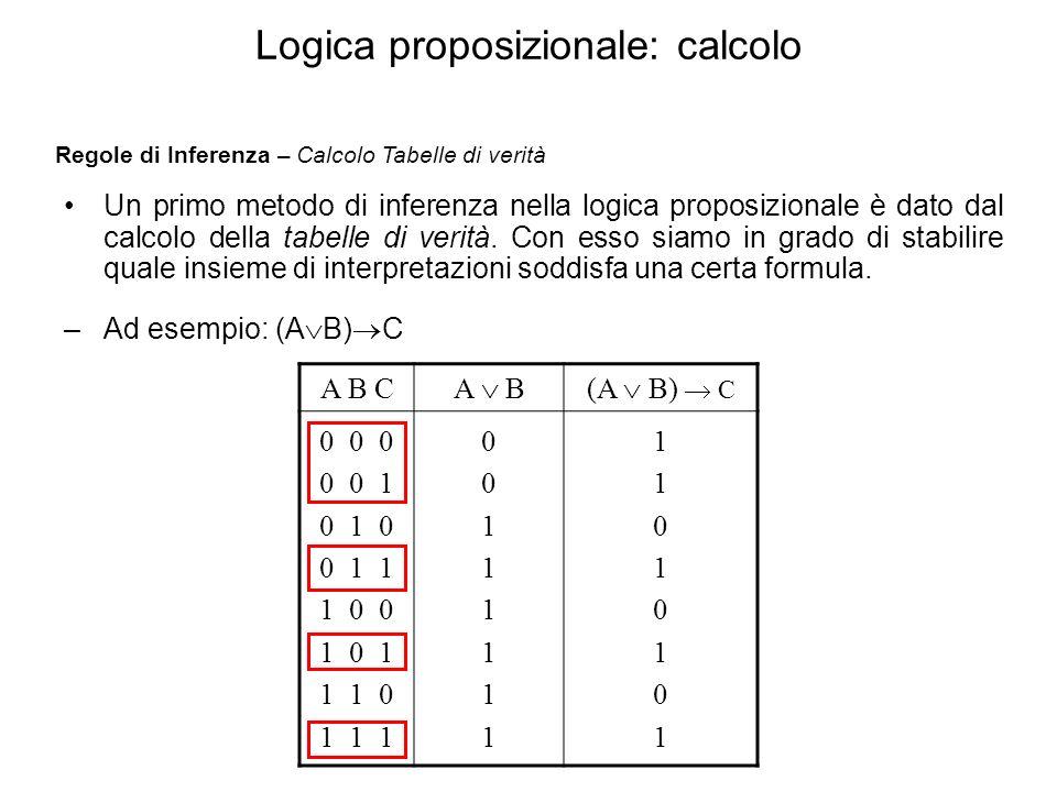Logica proposizionale: calcolo