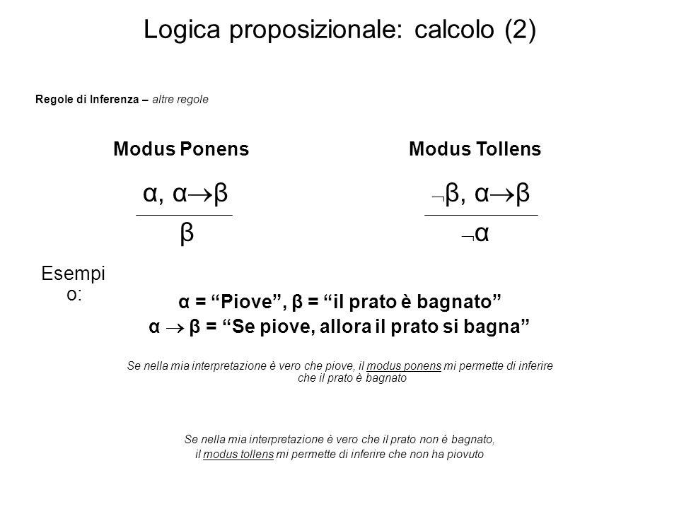 Logica proposizionale: calcolo (2)