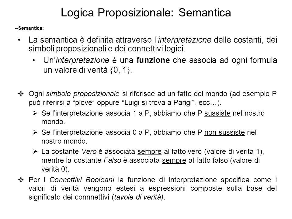 Logica Proposizionale: Semantica