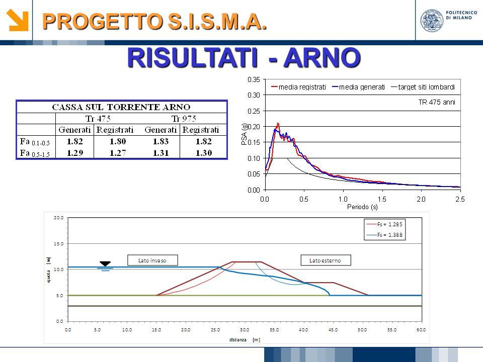 PROGETTO S.I.S.M.A. RISULTATI - ARNO