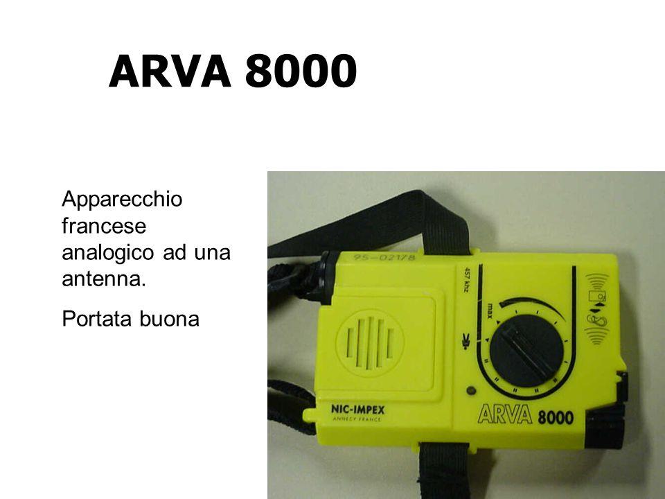 ARVA 8000 Apparecchio francese analogico ad una antenna. Portata buona