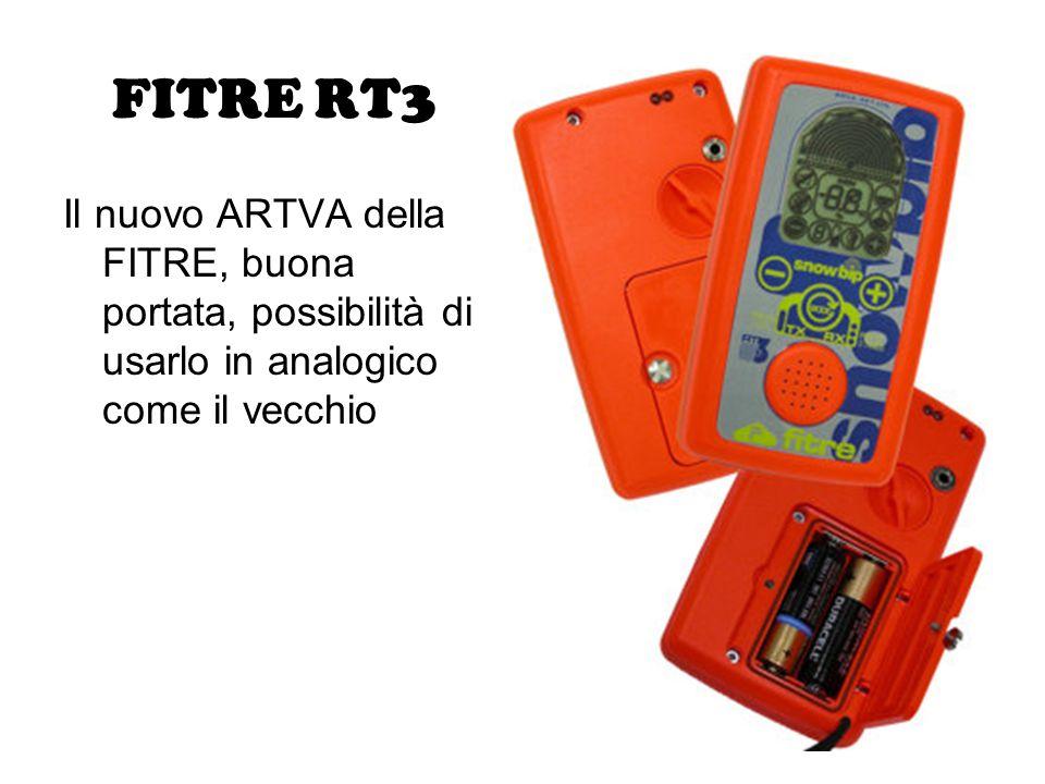 FITRE RT3 Il nuovo ARTVA della FITRE, buona portata, possibilità di usarlo in analogico come il vecchio.