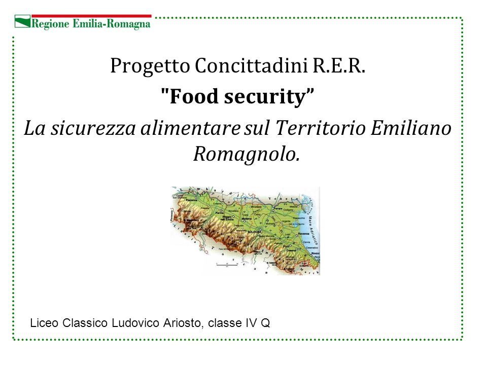 Progetto Concittadini R.E.R. Food security