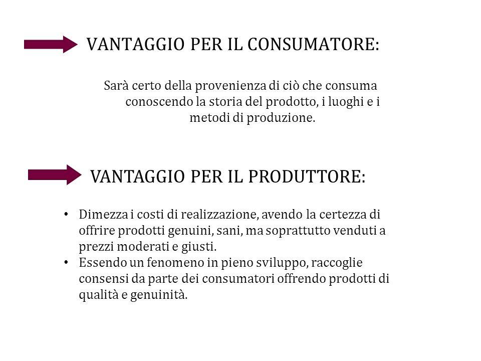 VANTAGGIO PER IL CONSUMATORE: