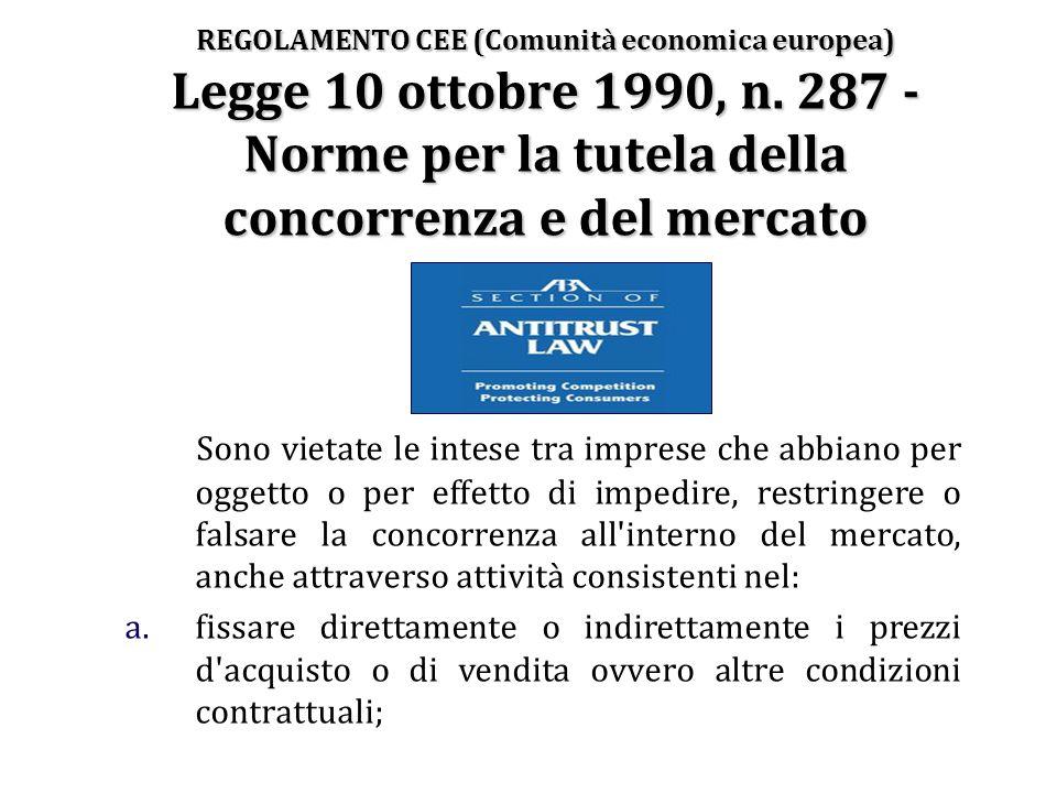 REGOLAMENTO CEE (Comunità economica europea) Legge 10 ottobre 1990, n