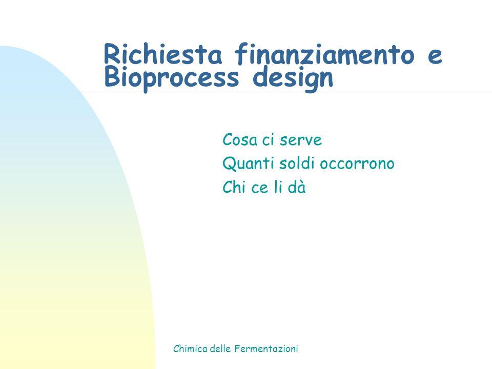 Richiesta finanziamento e Bioprocess design