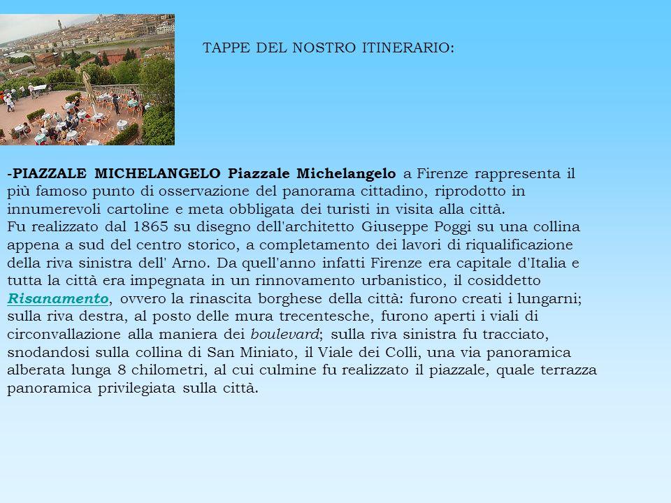 TAPPE DEL NOSTRO ITINERARIO: