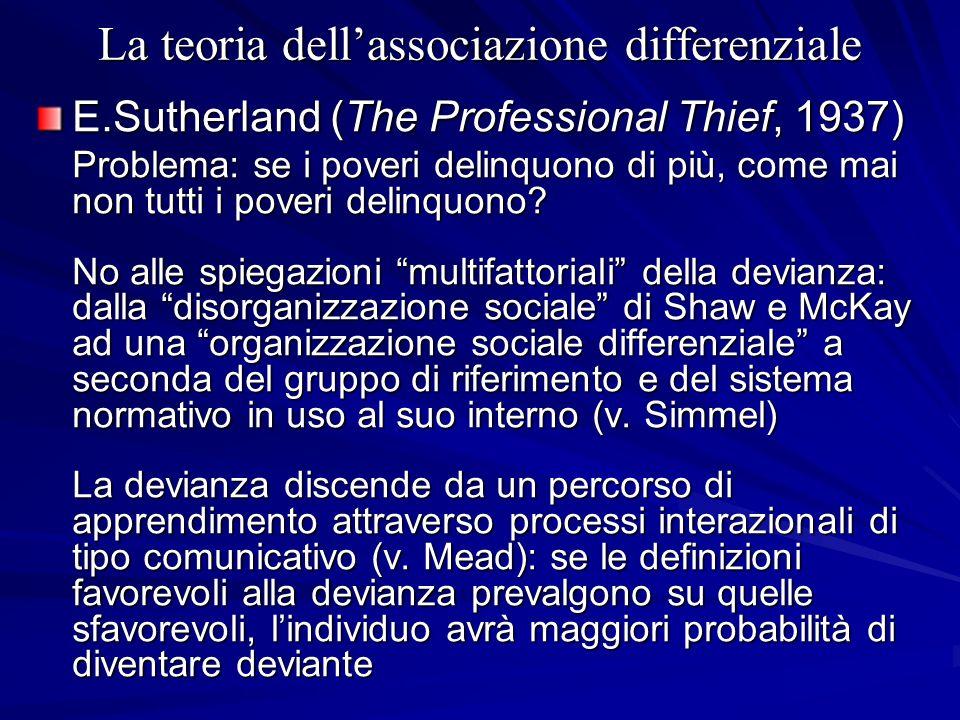 La teoria dell'associazione differenziale
