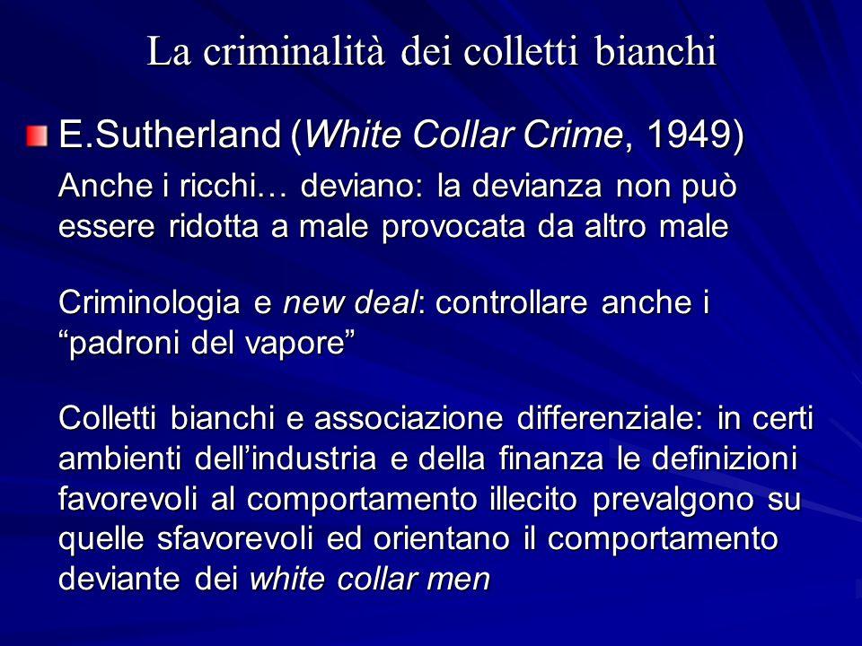 La criminalità dei colletti bianchi