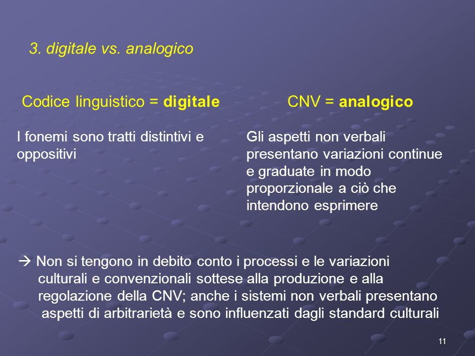 Codice linguistico = digitale