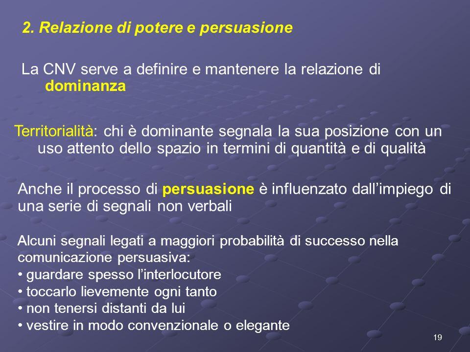 2. Relazione di potere e persuasione