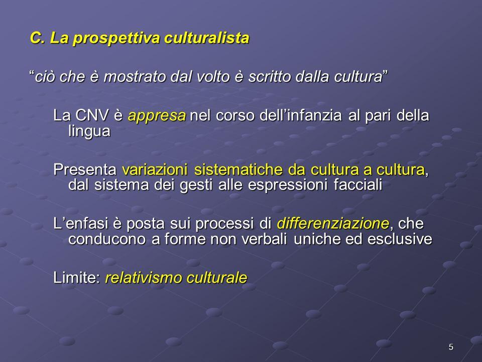 C. La prospettiva culturalista