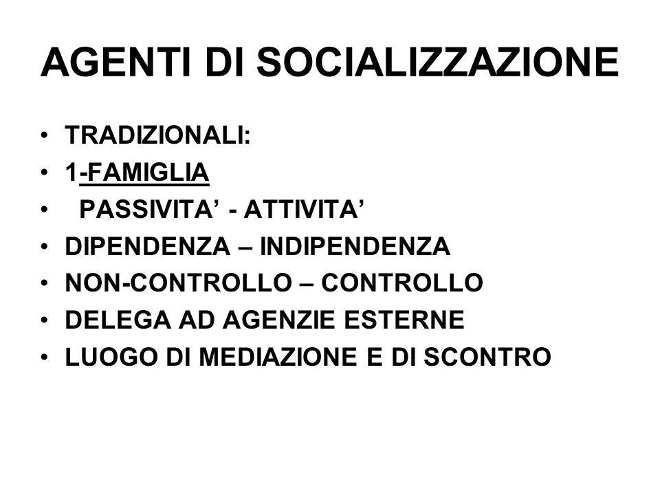 AGENTI DI SOCIALIZZAZIONE