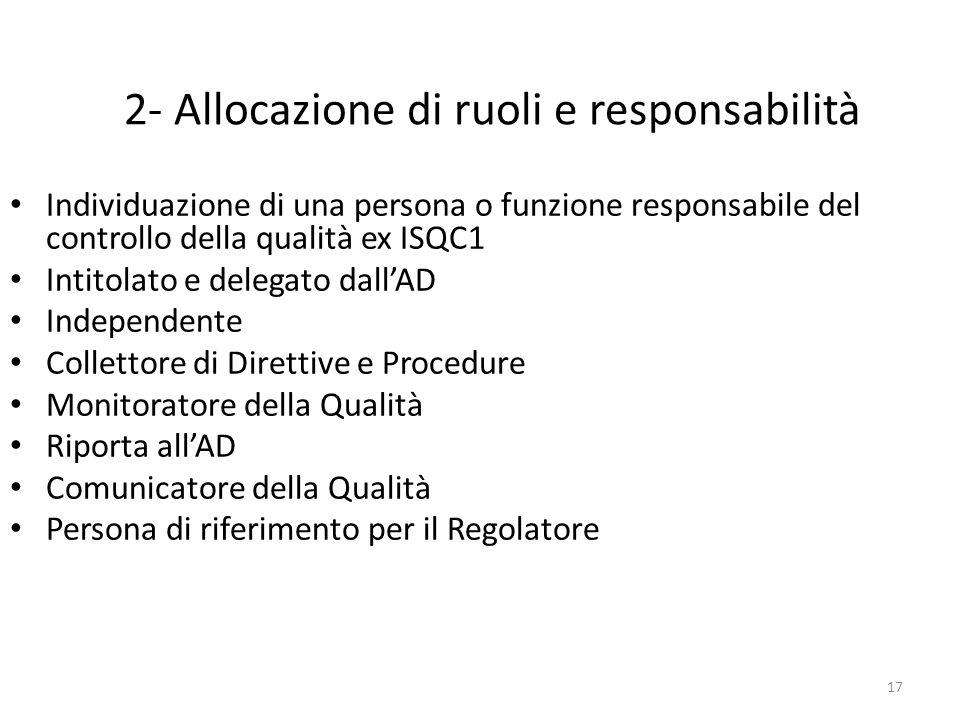 2- Allocazione di ruoli e responsabilità