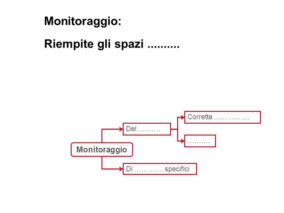 Monitoraggio: Riempite gli spazi .......... Monitoraggio