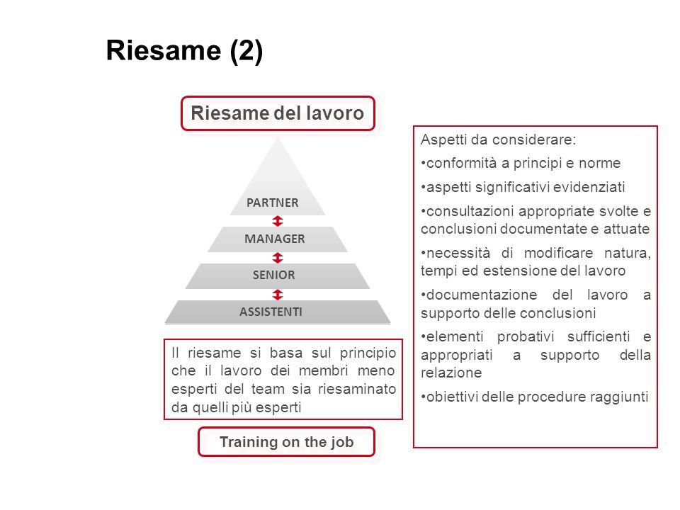 Riesame (2) Riesame del lavoro Aspetti da considerare: