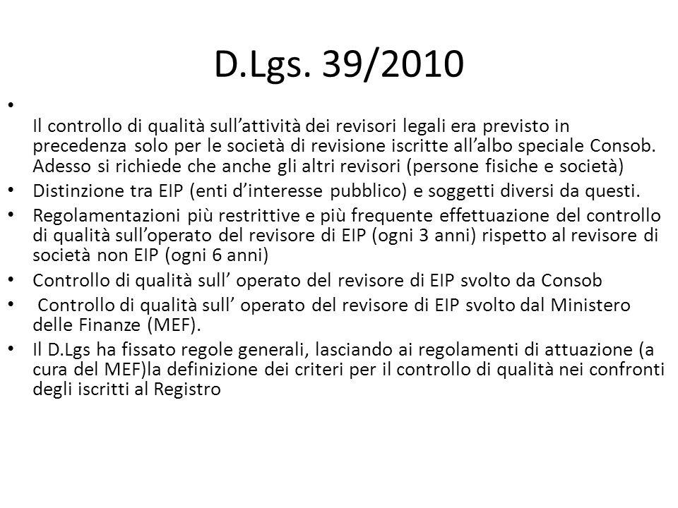 D.Lgs. 39/2010